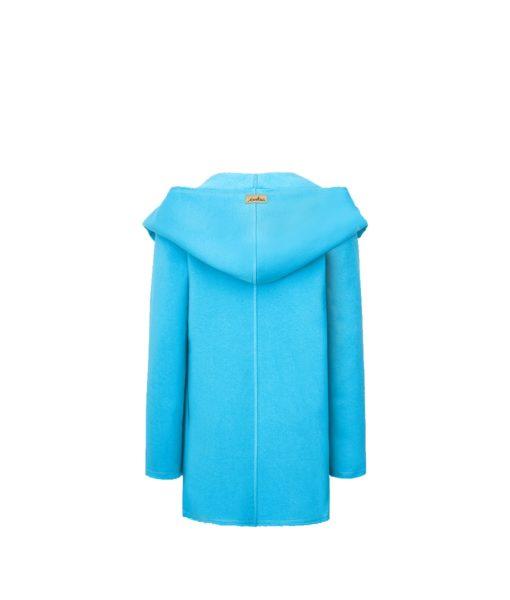 Evokaii Women Surf Hoodie Aloha Short Coat Blue Back