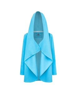 Evokaii Women Surf Hoodie Aloha Short Coat Blue Front