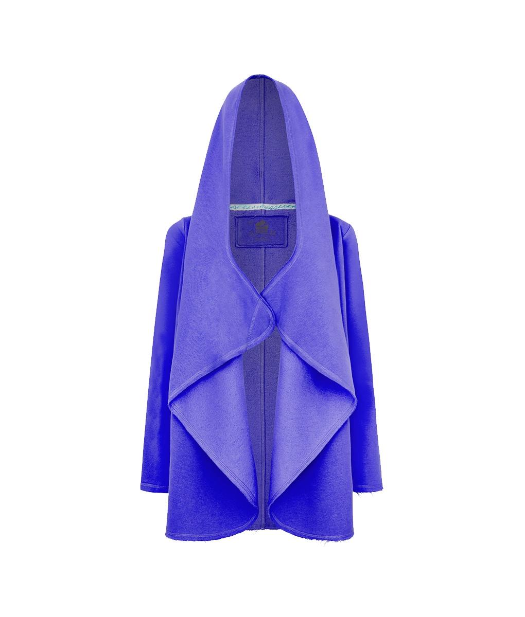 Evokaii Women Surf Hoodie Aloha Short Coat Purple Front