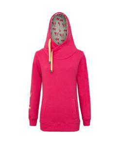 Różowa bluza z kapturem - przód