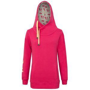 Evokaii Women Surf Style Big Hood Pink Front