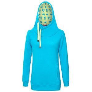 Evokaii Women Surf Style Big Hood Blue Front
