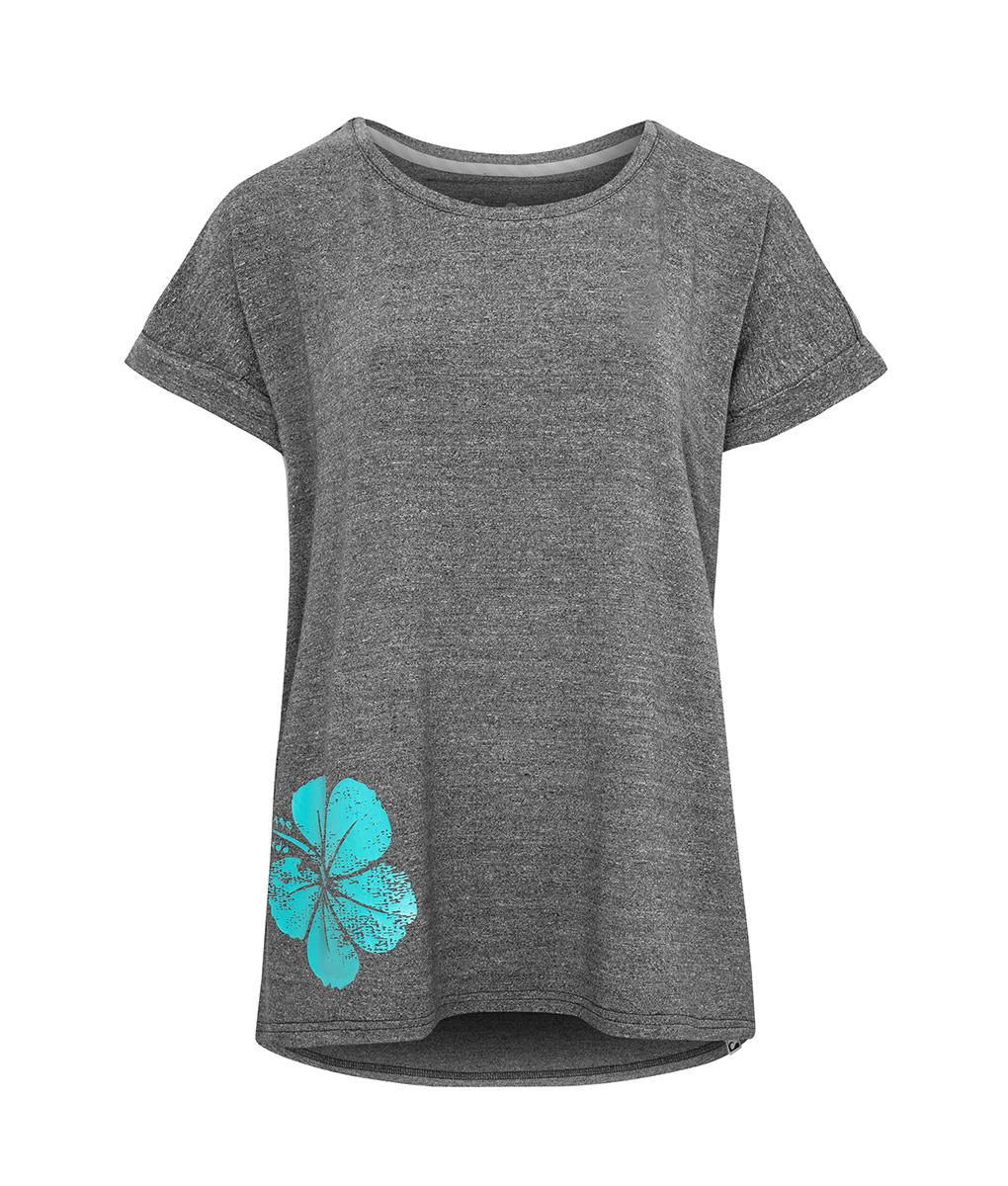 Evokaii Women Surf Style Tshirt Samoa Dark Grey Front