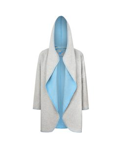 Evokaii Women Surf Style Summer Hood Two Grey-Blue Front