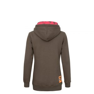 Evokaii Women Surf Style Big Hood Brown Back