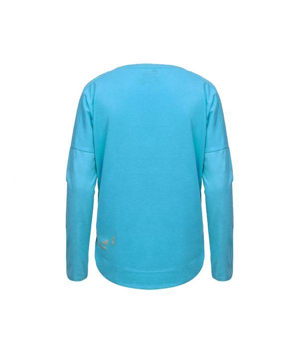 Evokaii Women Surf Style KiteGirl Tshirt Blue Back