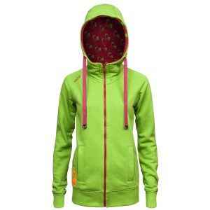 Evokaii Women Surf Style Zipper Hoodie - Wave Green Front