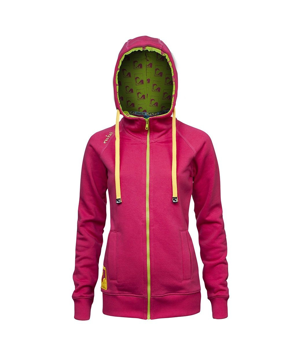 761631fc746 Women Kite Surf Style Zipper Hoodie - High Neck Wind Protection