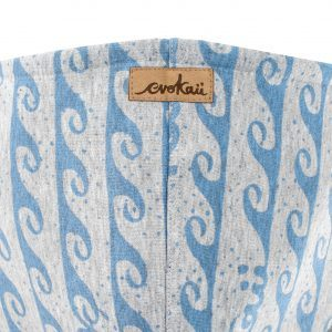 Damska bluza oversize typu kangu w fale - kaptur