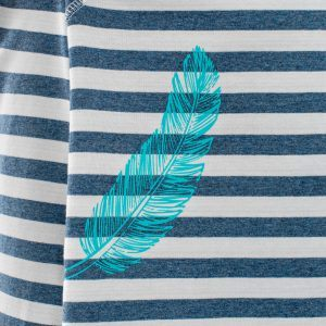 Evokaii Aloha Stripes Feather Print