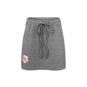Krótka spódnica z tkaniny bambusowej