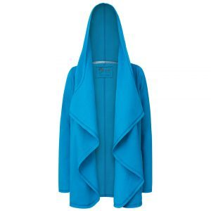 Evokaii Girls Surf Coat Aloha Short Coat Blue Front Open