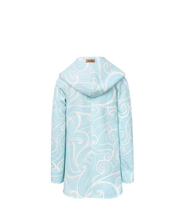 Evokaii Girls Surf Coat Aloha Short Coat Waves Back