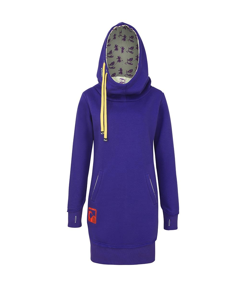 1b9f830744d Evokaii Women Surf Style Long Tailed Hoodie - Freestyle Purple Front