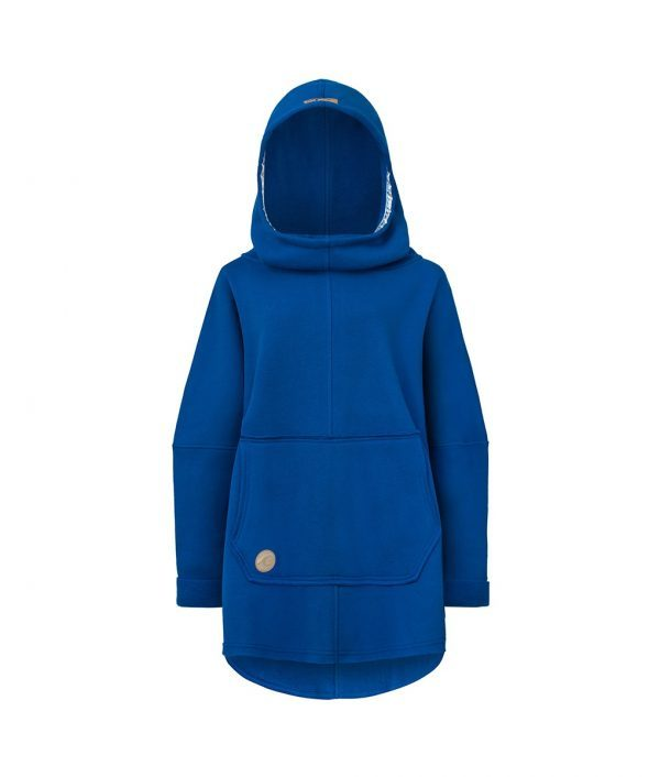 Oversized Hoodie with Kangoo Pockets - Dark Blue Front Picture
