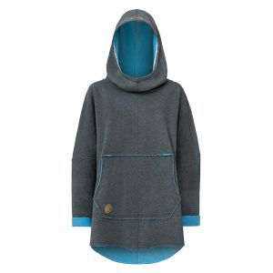 Oversized Hoodie with Kangoo Pockets - Dark Grey Front Picture