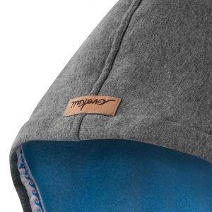 Oversized Hoodie Grey Hood Front