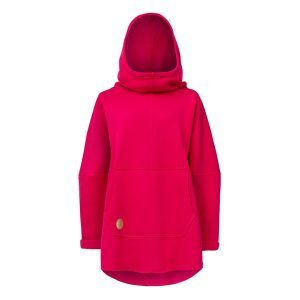 Oversized Hoodie with Kangoo Pockets - Pink Front Picture