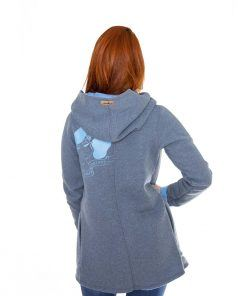 Evokaii Girls Surf Aloha Coat Grey Blue Back Model