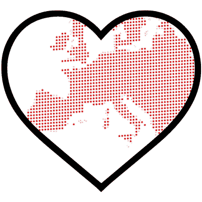 Europe Shown In Heart - We Produce Sustainable Surf Apparel In Europe
