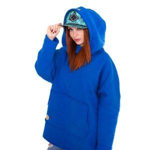 Niebieska bluza kangurka
