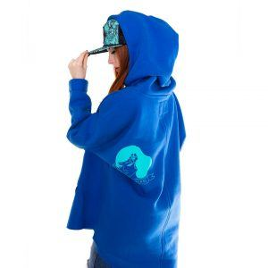 Evokaii Girls Kangoo Oversized Big Hoodie Blue Side
