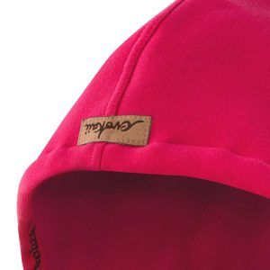 Oversized Hoodie Pink Hood Front