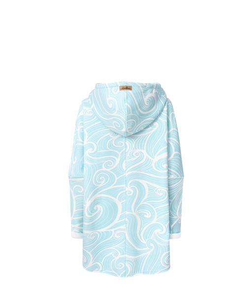 Oversized Hoodie with Kangoo Pockets - Wave Mint Back Picture