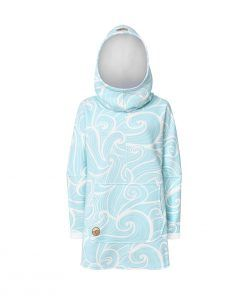Oversized Hoodie with Kangoo Pockets - Wave Mint Front Picture