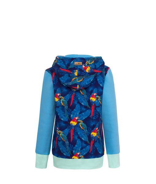 Bluza w papugi: Candy Hoodie Parrots - tył
