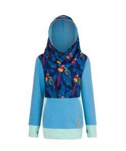 Bluza w papugi: Candy Hoodie Parrots -przód