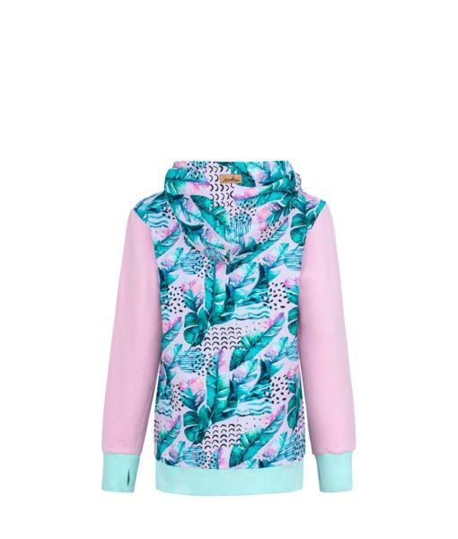 Bluza z piórami: Candy Hoodie Pink Feathers - tył
