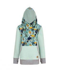Bluza tropikalna: Candy Hoodie Toucan - przód