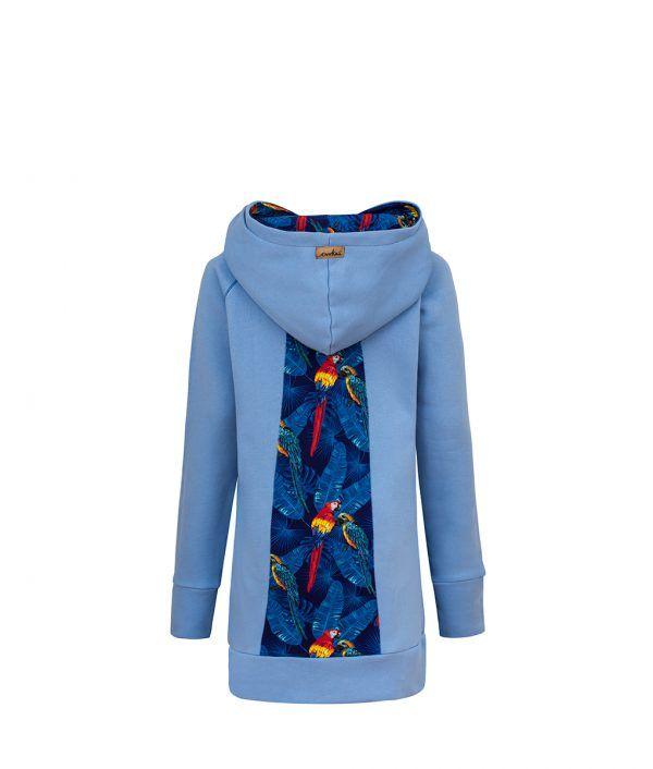 Bluza w papugi: Candy Long Parrots - tył