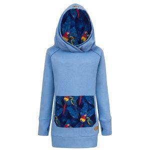 Bluza w papugi: Candy Long Parrots - przód