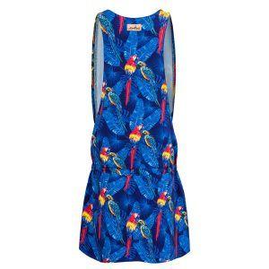 Sukienka na ramiączkach w papugi - tył
