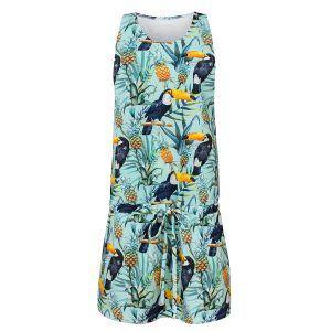 Letnia sukienka z tukanami - przód