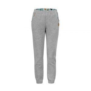Comfortable Grey Sweatpants Front With Toucan Print Inside