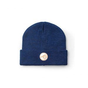 Navy Cotton Surf Beanie