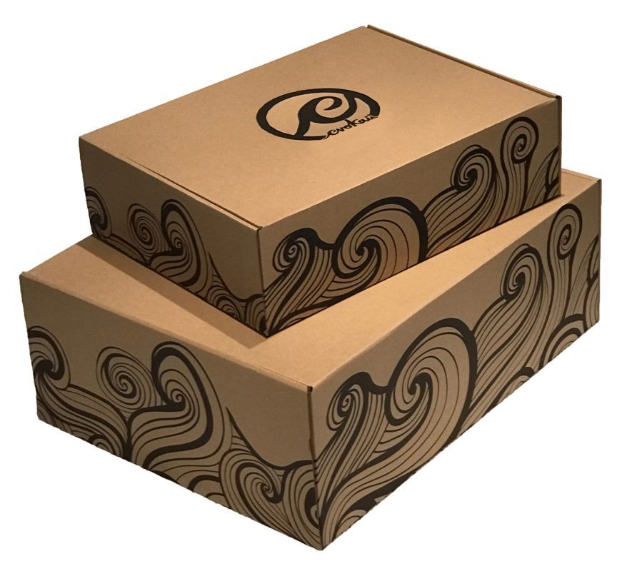 Evokaii Kite Surf Apparel Ecological Carton Box With Waves And Logo Painted